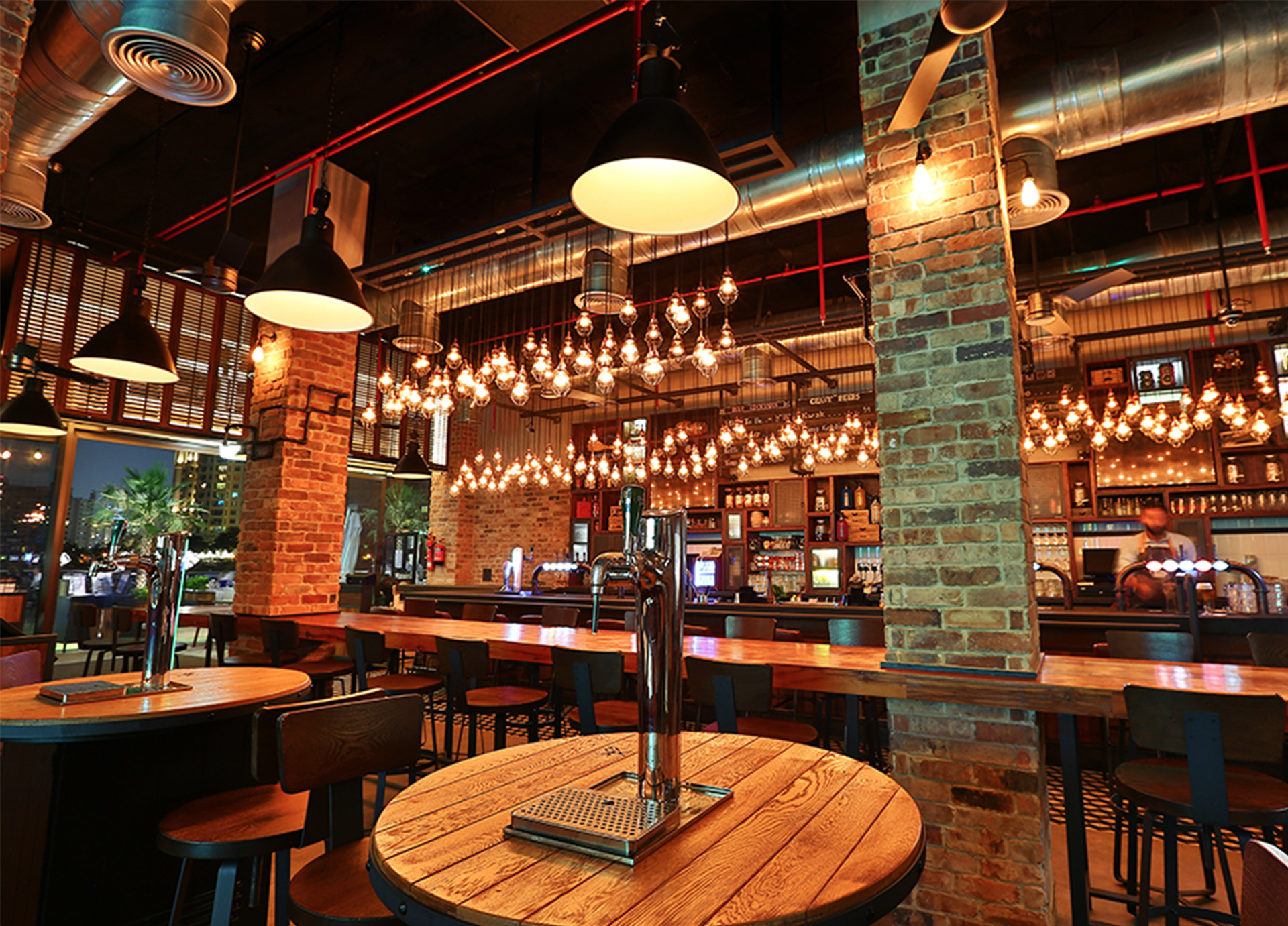 Creneau Interior Design Agency Dubai Middle East Tap House Bar Customised Table Design