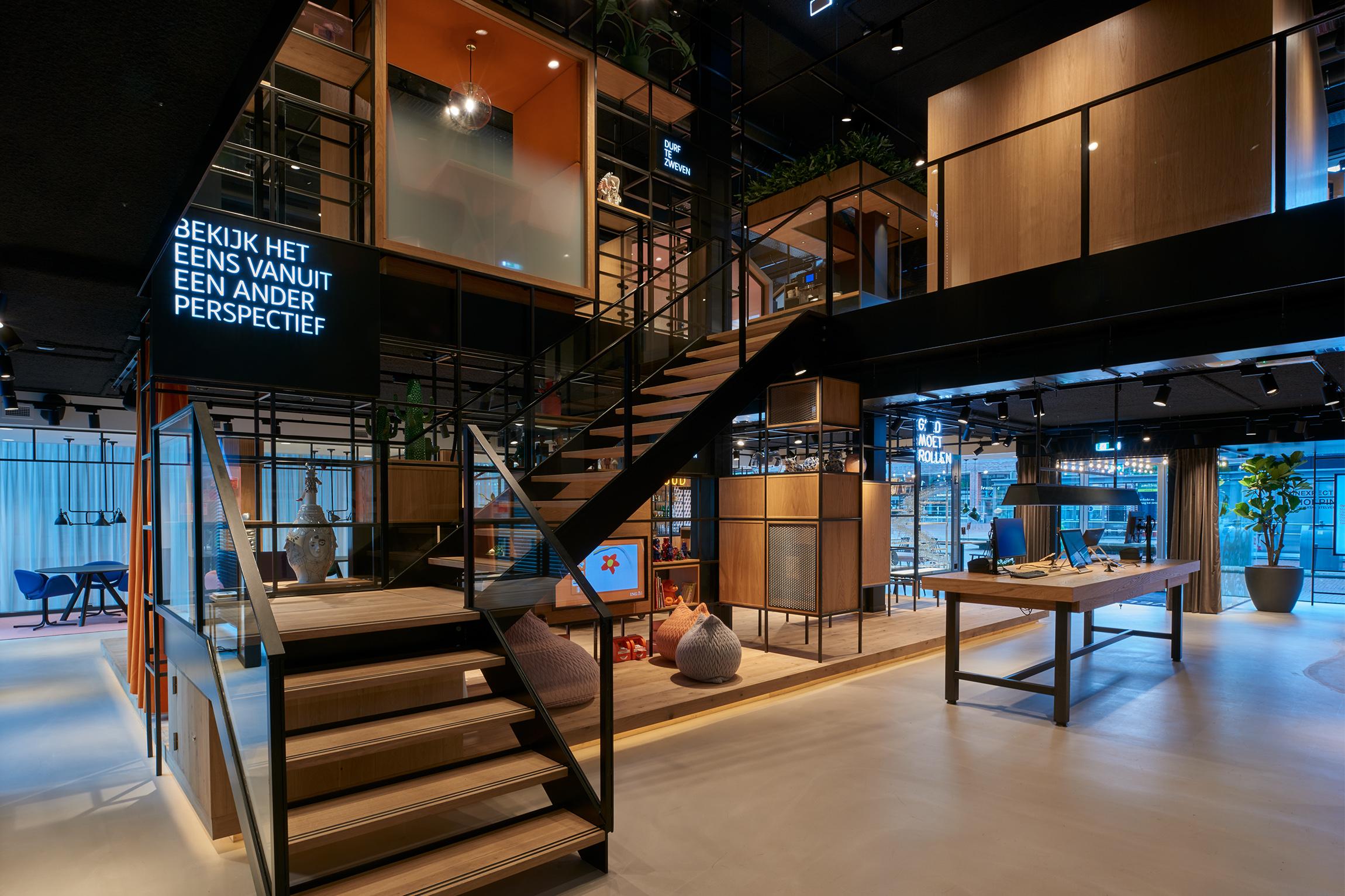 Creneau Interior Design Agency Dubai Middle East ING Bank Central Staircase